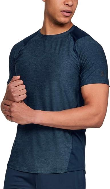 UNDER ARMOUR Boy/'s Size 4 Petrol Blue Short Sleeved Shirt W//HeatGear Retail $29.