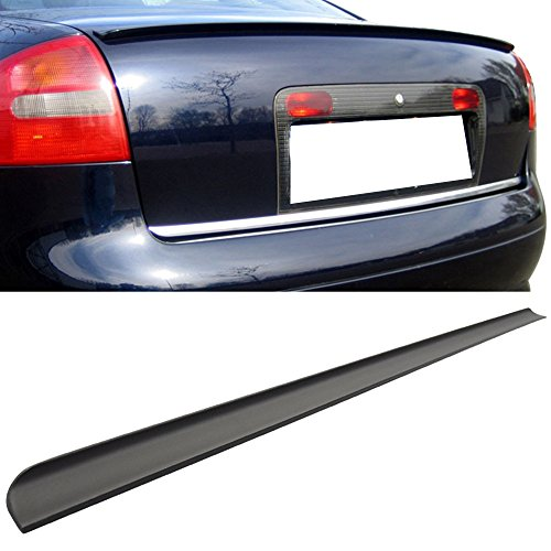 Trunk Spoiler Fits 2011-2014 Volkswagen Jetta MK6 | PU Flexible Unpainted Black - Other Color Available Rear Roof Tail Spoiler Wing by IKON MOTORSPORTS | 2012 2013