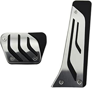 9 MOON No Drill Anti-Slip at Fuel Gas Brake Pedal Cover for BMW 1 3 5 7 Series X3 X5 Z4