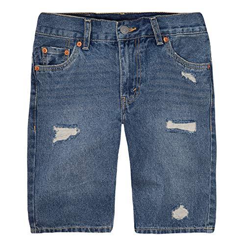Levi's Big Boys' 511 Slim Fit Denim Shorts, Montezuma,10 (Denim Boys Jeans Blue)