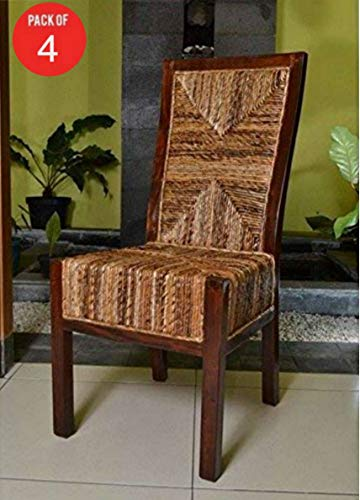 International Caravan Furniture Piece Dallas Abaca Weave Dining Chair (Pack of 4)
