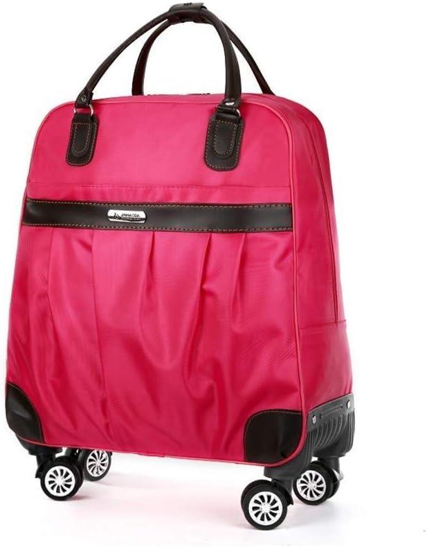 Color : Black, Size : Medium JYTBB Bolso Exterior//Moda Maleta 2 en 1 Maleta de Viaje con Ruedas universales for Mujer Bolso de Mano 4 Opciones de Color M Rojo