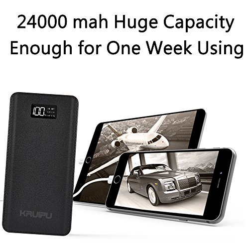 Power Bank 24000mAh Portable Charger Battery Pack 4 OutPut Ports Huge Capacity Backup Battery Compatible Smart Phone Almost All Android Phone And Others by KENRUIPU (Image #4)
