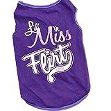 Hot Selling!!Pet Clothes,Woaills Cat Dog Puppy Summer Apparel T-Shirts Vest (M, Purple)