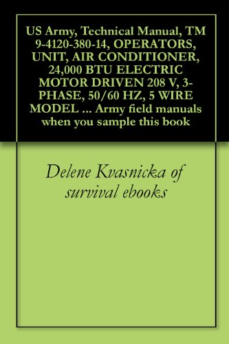 (US Army, Technical Manual, TM 9-4120-380-14, OPERATORS, UNIT, AIR CONDITIONER, 24,000 BTU ELECTRIC MOTOR DRIVEN 208 V, 3-PHASE, 50/60 HZ, 5 WIRE MODEL ... field manuals when you sample this book )