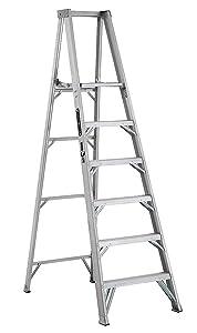 """Platform Stepladder, 5 ft 8"""", Alum., 375 lb"""