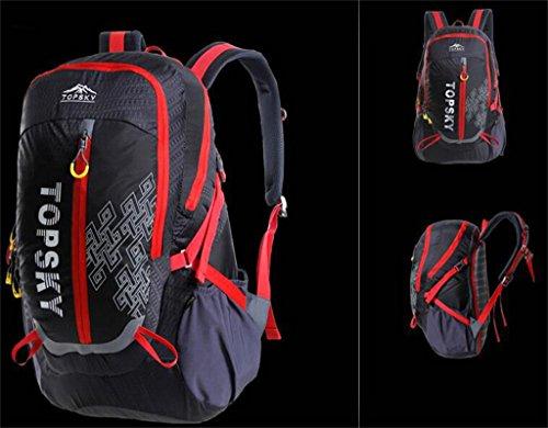 Rucksack Tasche Männer und Frauen im Freienbergtaschen Reiten im Freien Sporttasche 40L ( farbe : Schwarz , größe : 40L )