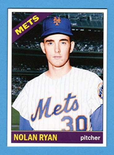 Nolan Ryan 1966 Topps Style Rookie Baseball Card What If