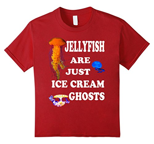 Kids Jellyfish Shirt Vintage 90s Themed  Ice Cream Ghosts 10 Cranberry (90s Themed Clothes)