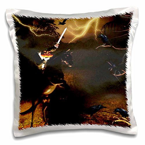 3dRose Renderly Yours Autumn and Halloween - Headless Horseman Rides in Sleepy Hollow - 16x16 inch Pillow Case -