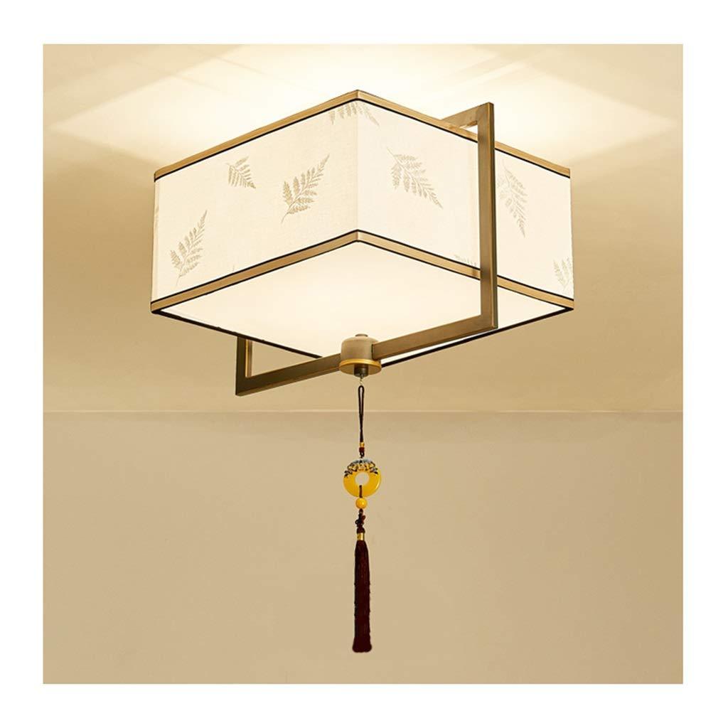天井照明 シーリングライト中国風のシーリングランプ、E27錬鉄製の布地、リビングルームのインテリア寝室研究ホテル茶室照明[エネルギークラスA ++] シーリングライト (Color : A)  A B07TCDSWZC