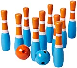 Sterling Wooden Lawn Bowling, Blue and Orange