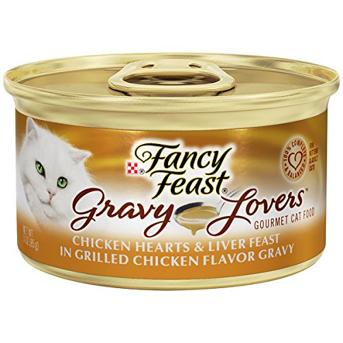 Purina Fancy Feast Gravy Wet Cat Food; Gravy Lovers Chicken Hearts & Liver Feast - 3 oz. Can