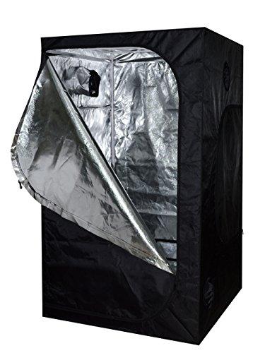 51LXPONZvzL TMS 48x48x78 100% Reflective Mylar Hydroponics Indoor Grow Tent Non Toxic Room 4x4x6.5ft