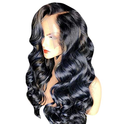 Hair Wig Natural,FAPIZI 13x6 Lace Front Human Hair Wigs Pre Plucked with Baby Hair Curly Brazilian Remy Hair Wig Black by FAPIZI Women Wig (Image #2)