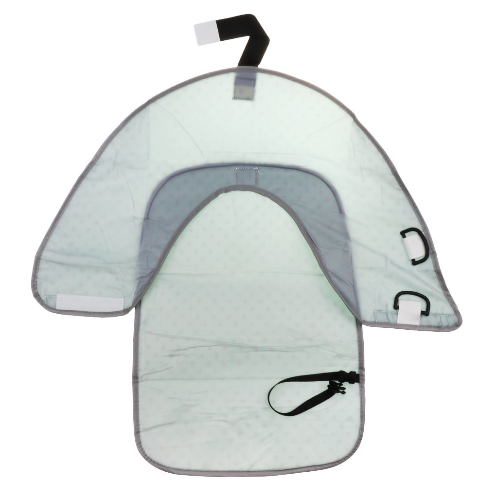 Waterproof Baby Diaper Changing Mat Travel Home Change Pad 3-in-1 Organizer Bag White+Black as described