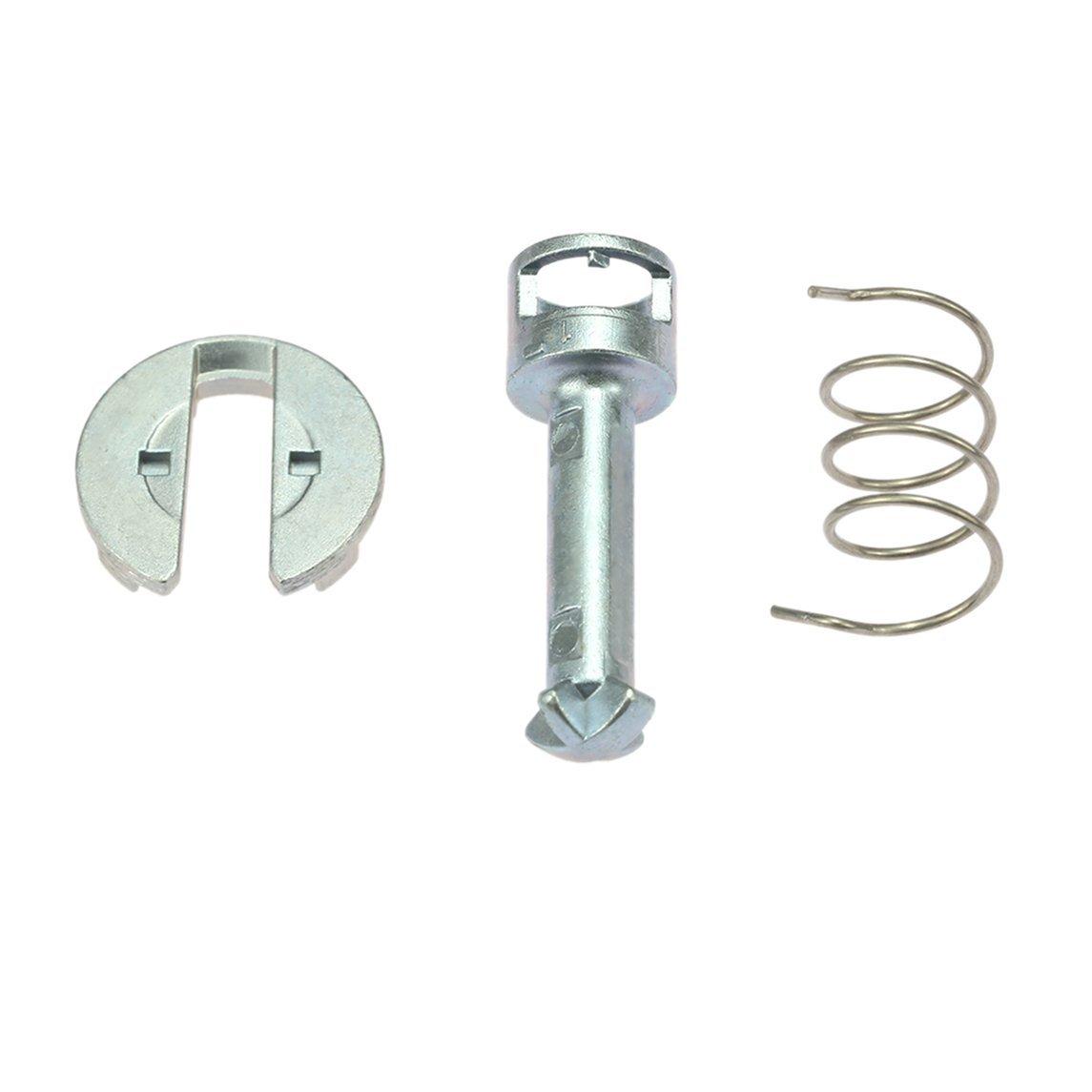 Footprintse Sostituzione kit di riparazione serratura porta 7pcs per BMW X3 X5 Porta anteriore sinistra/destra (colore: argento)