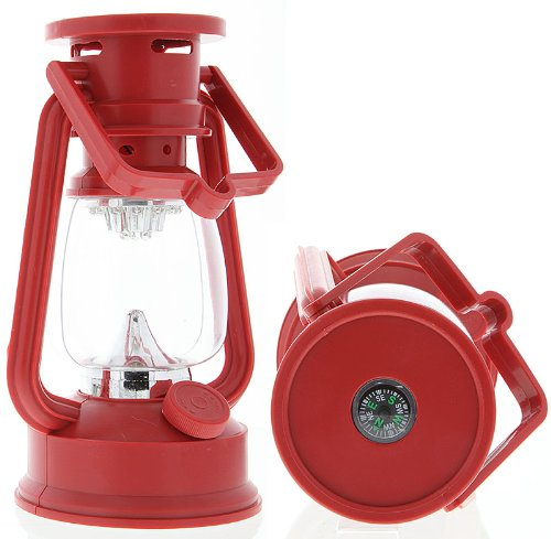 SE FL807-15R 15 Led Hurricane Camping Lantern Red, Outdoor Stuffs