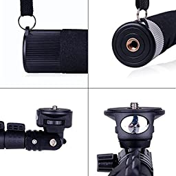 Extending Selfie Stick with Remote Housing Tripod Mount for GoPro Hero 1 2 3 3+4 Handheld Telescopic Self-portrait Monopod with Bluetooth Remote Shutter Adjustable Phone Holder for iPhone 6s 6 Plus 6S 6 5S Samsung Galaxy Note 5 S6 Edge S6 S5 S4