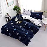 Starstorm_6 Pieces King Size Fitted Bed Sheet Set_Blue Space Design (Click above on Starstorm for more designs)