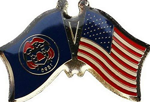 (Mikash Wholesale Pack of 6 USA American Utah State Friendship Flag Hat Cap Lapel Pin   Model FLG - 2753)