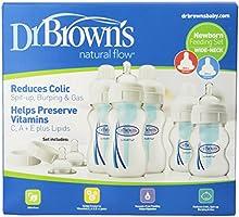 Dr. Brown'S Set de Lactancia con Flujo Natural y Cuello Ancho