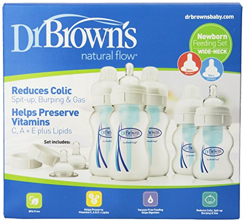 Dr. Brown's Original Wide-Neck Bottle Newborn Feeding Set