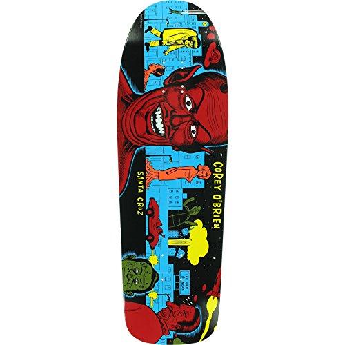 Santa Cruz Obrien Mutant City Skateboard Deck -9.75x31.86 Blue Reissue DECK ONLY (Santa Only Deck Cruz)