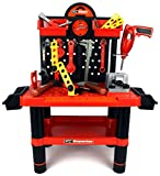Velocity Toys Superior Work Shop Children's Kid's Pretend Play Toy Work Shop Tool Set w/ Tools, Accessories