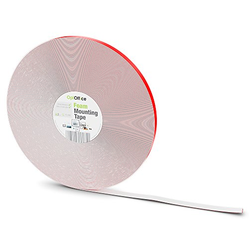optoffice-double-sided-foam-mounting-tape-12mm-x-36-yards-ideal-for-general-and-indoor-use-and-holds