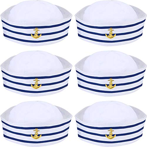 Sailor Hat - Blue with White Sail Hats Navy