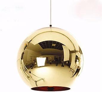 Lámparas De Araña Lámpara Led Simple Esférica Electroplástica Restaurante Simple Escalera Tienda Lámpara De Cristal Araña 15Cm: Amazon.es: Iluminación