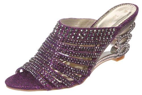 JohnFashion - Sandalias de vestir de Material Sintético para mujer morado