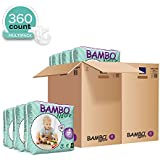 Bambo Nature Eco Friendly Baby Diapers Classic for Sensitive Skin, Size 4 (15-40 lbs), 360 Count (2 Cases of 180)