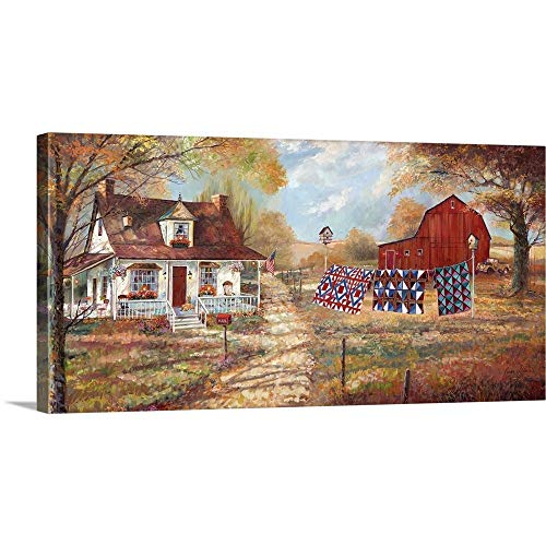 (GREATBIGCANVAS Gallery-Wrapped Canvas Entitled Afternoon Quilting by Ruane Manning 36