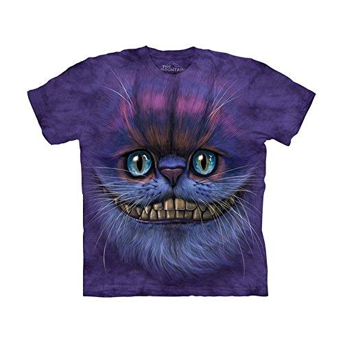The Mountain Kids Big Face Cheshire Cat T-Shirt, Medium, Purple (Youth Time T-shirt Big)