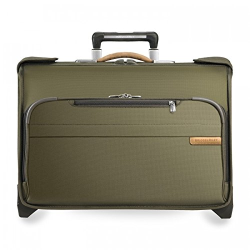 Briggs & Riley Baseline Carry-On Wheeled Garment Bag, Olive, Small by Briggs & Riley