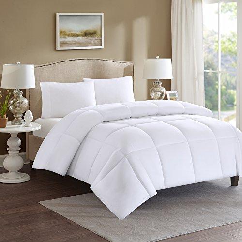 Comfort Spaces - All Season Duvet Insert White Plush Goose Down Alternative Comforter- Hypoallergenic - Full/Queen...