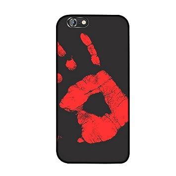 MIMINUO Funda con Sensor térmico para iPhone 6/6s, Magical Color cambiante Sensor térmico Fluorescente con Calor térmico Noctilucente Mate Suave TPU Funda: ...