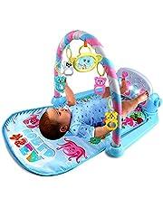 biteatey Piano gym baby lekfilt med musik och 5 hängen, leksak babyutrustning från födseln, pedagogisk leksak snygg