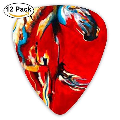 Accessories Pink Horse Animal Acoustic Thin Heavy Medium Gauge Guitar Picks Boys 12 Packs Cigar Box Guitar