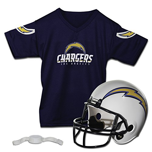 Franklin Sports NFL Los Angeles Chargers Helmet Jersey Set