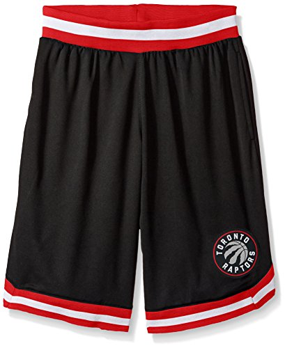 fan products of NBA Men's Toronto Raptors Mesh Basketball Shorts Woven Active Basic, Large, Black
