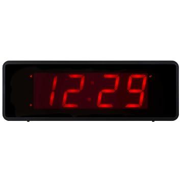Kwanwa turística Snooze Despertador con Grandes de 1.4 Red Números de Pantalla LED y