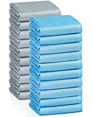 AHCSMRE Microfiber Cleaning Cloths 20 Pieces, Window Scrubbing and Car Windshield and Polishing Microfiber Towels, Home Car Wash Drying Details Cleaning Towel (1115 inch)