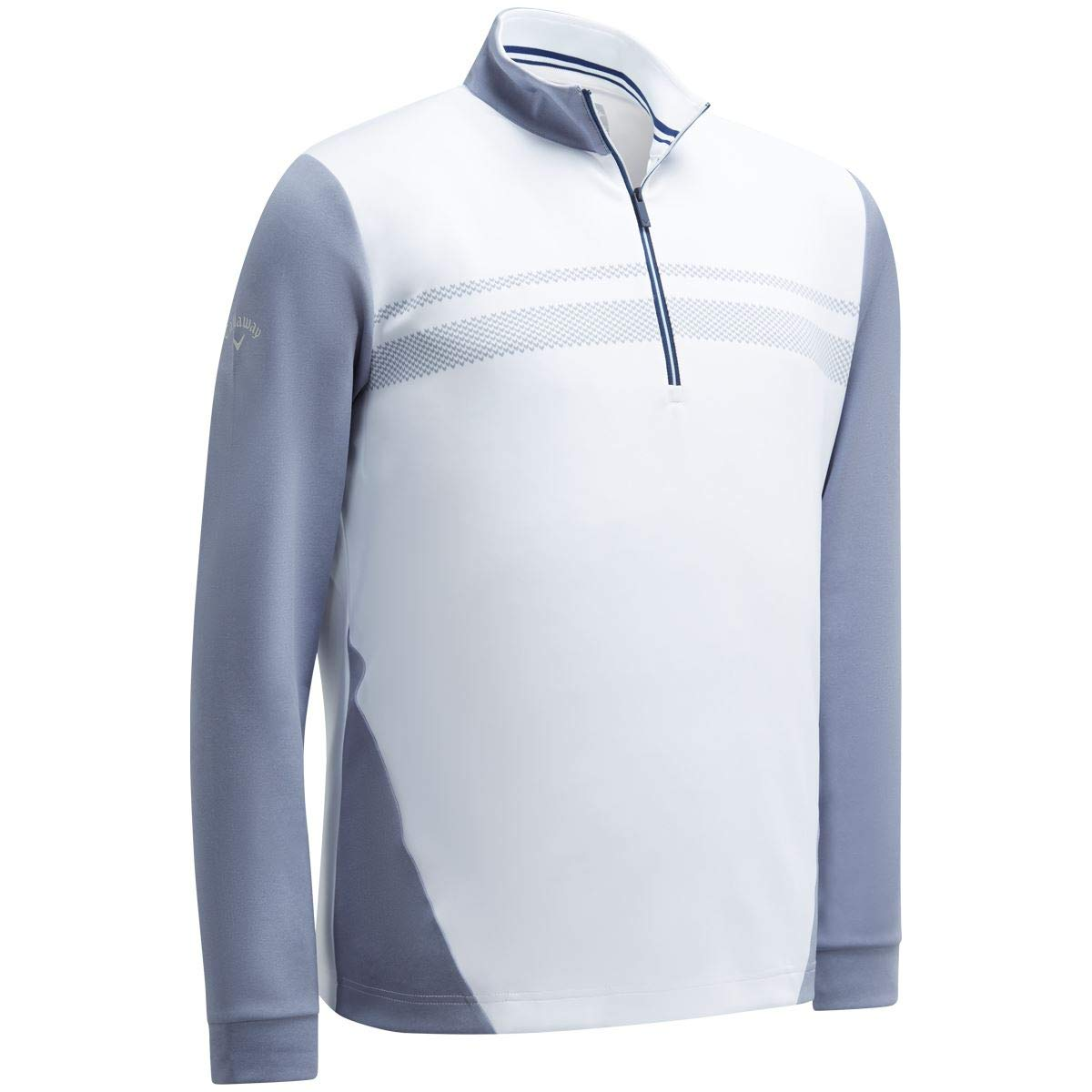Callaway Golf 2019 Mens 1/4 Zip High Gauge Fleece Thermal Stretch Golf Pullover Bright White Small by Callaway