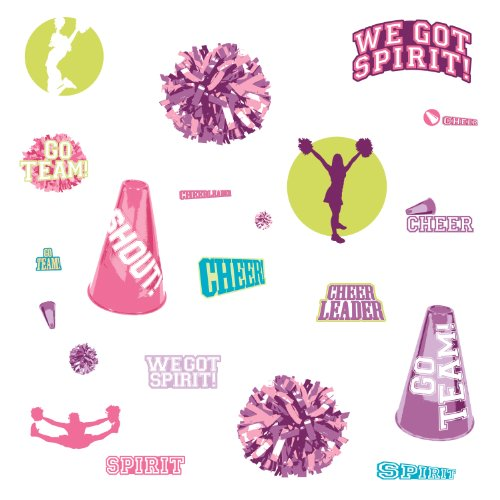 RoomMates RMK1655SCS Cheer Peel & Stick Wall Decals