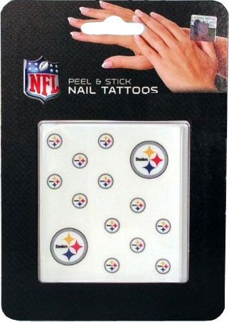 Rico NFL Pittsburgh Steelers Nail Tattoos
