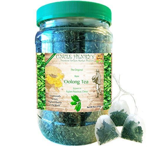"""Oolong Tea Leaves Loose from Fujian Province #1 Best Taste Premium Farmers Market Quality. Big Double-Sealed Artisan Product Original Green Lid """"You'll Love it"""" Henry's Guarantee (Oolong, - Tea Loose Oolong"""