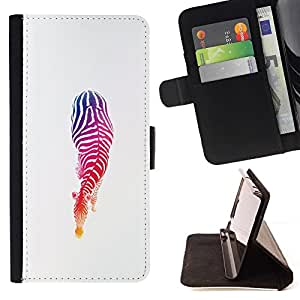 For Samsung Galaxy A5 ( A5000 ) 2014 Version Case , Colores Stencil minimalista Blancas- la tarjeta de Crédito Slots PU Funda de cuero Monedero caso cubierta de piel